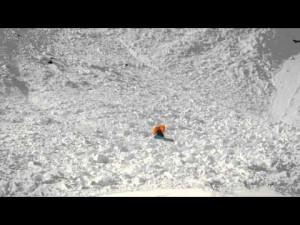 フェラーリ、雪原を行く