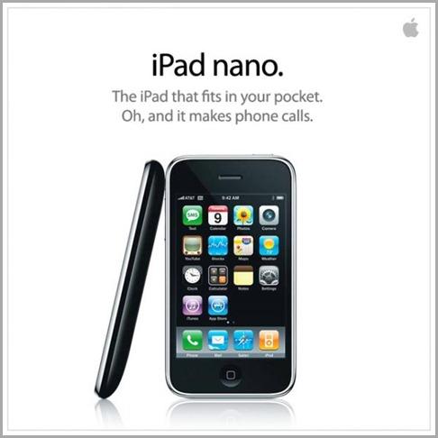 iPad nanoが発表になったようです