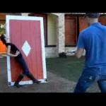 ナイフスローの練習