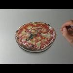 夜中に腹が減ったからリアルなピザを書いてみた