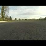 バイクでスピンターンを自撮りしてみた