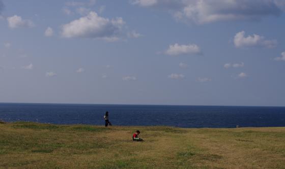 入道崎と子ども