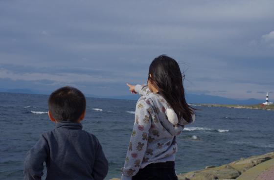 向こうには北海道が見える!