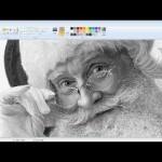マイクロソフトペイントでサンタクロースを描いてみた