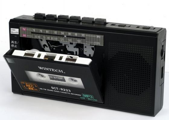 WINTECH マイクロSD/USB録音対応コンパクトラジカセ