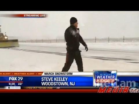 お天気リポーターが大雪の現場を生中継してたら・・・