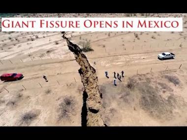 【地球ヤバイ】メキシコで1kmにわたって地割れが発生