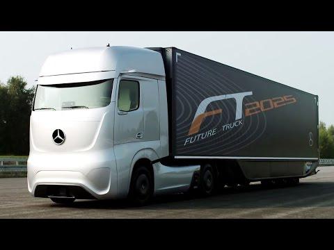 自動運転にタブレットのメーター、メルセデスベンツの未来トラック2025