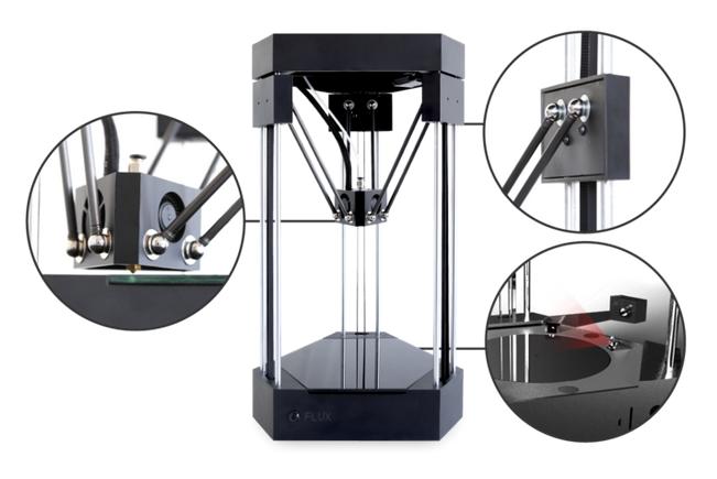 3Dスキャナを搭載した3Dプリンタ「FLUX」がkickstarterに登場!すぐに目標額の5倍の資金を手に入れる