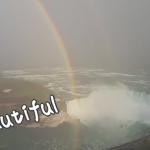 コレは神々しい。ナイヤガラの滝に巨大円の虹が現れた!!!