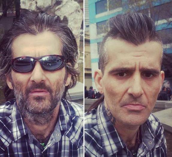 【画像】 ホームレスの人達の「髪」をタダで切ってあげたら綺麗になった!!