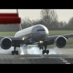 強風で着陸に四苦八苦する旅客機コンピレーション