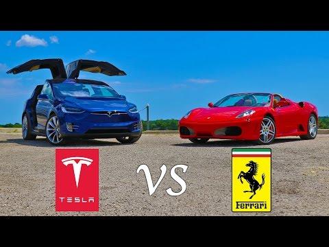 テスラモデルX VS フェラーリF430 加速 3回勝負