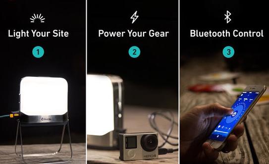 アウトドアで遠隔操作可能なライトにもモバイルバッテリーにもなる「BioLite BaseLantern」