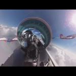 ロシア空軍「Russian Knights」の飛行を360°ビューで!