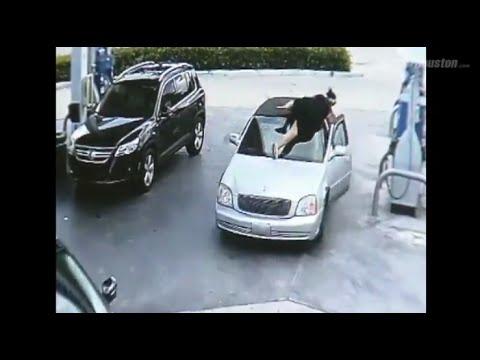 給油中に貴重品を盗まれた女性の行動力w