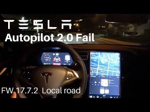 テスラのオートパイロット2.0、思いっきり対向車線にはみ出まくるバグ!?