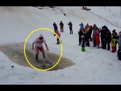 スキー場に設置された水滑りコースがひどい件