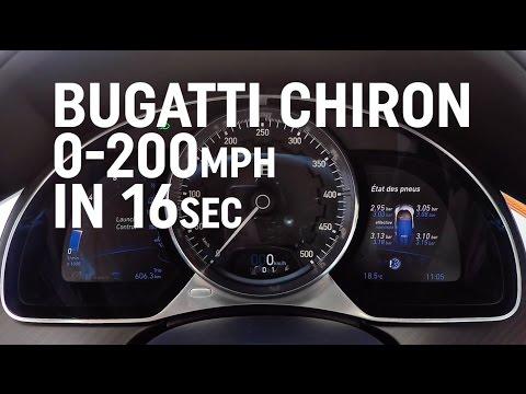 世界最速:ブガッティー・シロン、圧巻の加速(メーターだけ)を公開