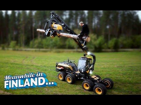 枝打ちマシンでロデオをやったら面白かった!