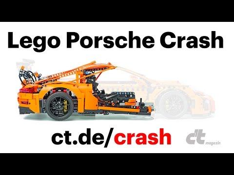 レゴで作ったポルシェのクラッシュテスト