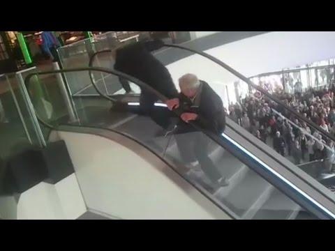 老人2人がエスカレーターを逆走、もうやらないと誓う