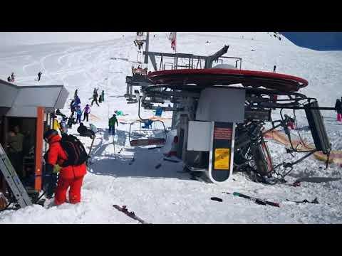 スキーのリフトが暴走して高速逆走・・・これは怖すぎる