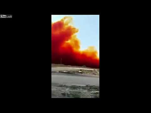中国の化学工場が爆発してヤヴァイ煙が発生