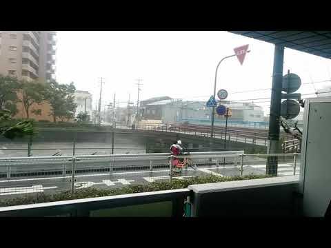 台風の強風で自転車動けず・・・そこに救世主が!