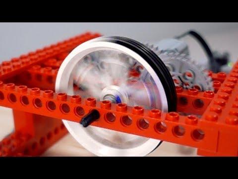 【レゴで実験】 400rpmのモーターにギアを使って回転をアップさせてみた
