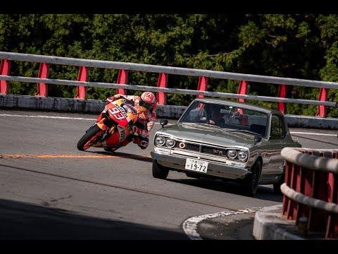 MotoGPマシンが岡持カブやデコトラとターンパイクで勝負w