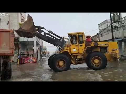 洪水を重機2台で対処するよ!