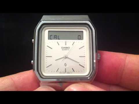 35年前に発売されていた!?画面をなぞって計算するCASIOの腕時計