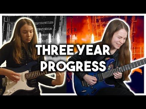 エレキギター初心者、3年間の練習の軌跡