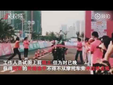 中国で開催されたマラソン大会、一着はなんとw