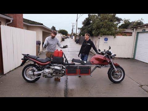 まるでバナナボート、BMWバイクを魔改造