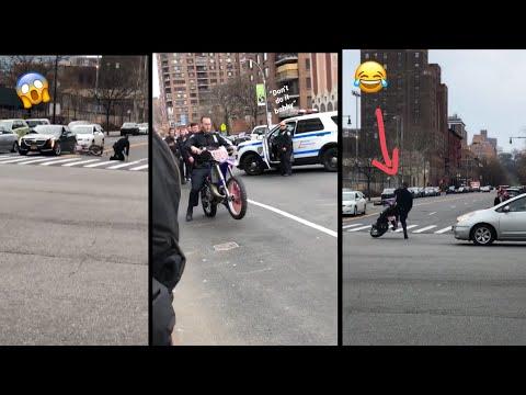 NYPD、押収したバイクを持って行こうとしてみんなの前でやらかしてしまう