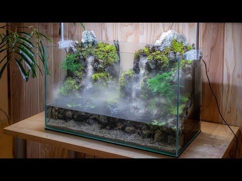 観賞用滝の作り方。飛沫を再現が素晴らしい!