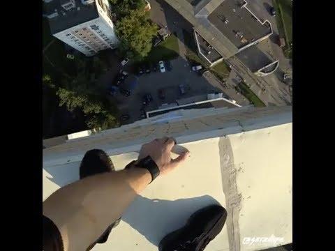 屋上で超危険なパルクール、そして失敗・・・