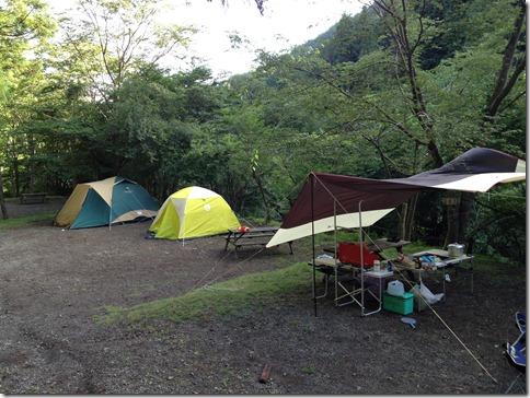 丹沢のBOSCOに2連泊キャンプ、やっぱり雨でした('A`)