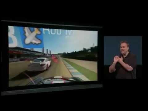 iPhone5でReal Racing 3デモ