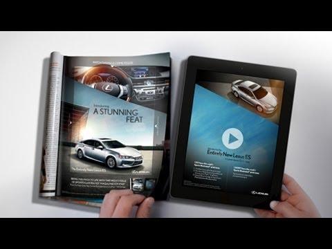 雑誌とタブレットが融合!斬新なLexusの広告が(・∀・)イイ!!