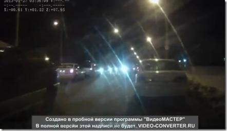 おそロシア 対向車がきてもお構いなしなクレイジーカー車載映像