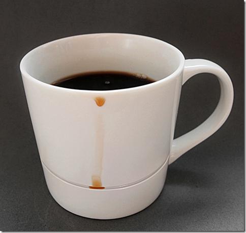 コーヒーの跡が付かないコーヒーカップ