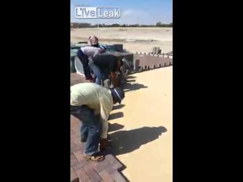 舗装ブロックの達人技