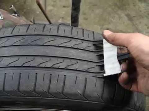 スリップサインが出たタイヤを生き返らせる方法。だが、素人にはお勧めできない