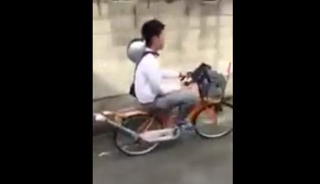 オラついて自転車通学する高校生ヤンキーが教師に止められて言われた一言wwww