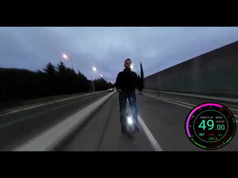 電動一輪車を魔改造して公道で最高速チャレンジ、そして罰が当たる