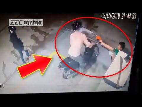 とんでもない方法で強盗を撃退するガソリンスタンドの店員