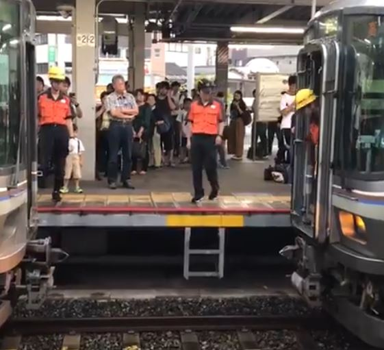 電車の連結を特等席で撮影だ!!